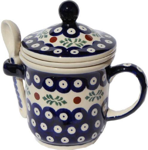 Polish Pottery Brew-in-mug From Zaklady Ceramiczne Boleslawiec 1175//242