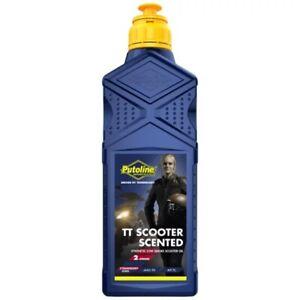 Putoline Tt Scooter Fraise Parfumé Synthétique Bas Fumée 2 Temps 2T Huile - 1L
