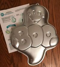 wilton metal cake pan boo ghost halloween baking mold tin jello holiday casper