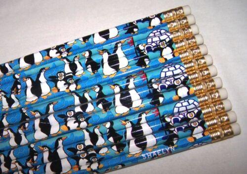 24 Personalized PENGUIN Pencils