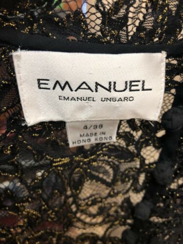 Vest 38 4 Gold And Emmanuel Black Taglia Lace 6aUSI0xq