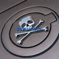 Silver Car Skull Crossbones Demon Skeleton Metal Emblem Badge Logo Decal Sticker