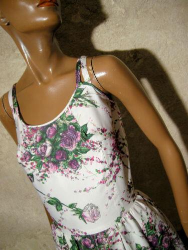 1950 Vestito 36 Rockabilly Chic Vintage Kleid Abito 50s 38 50er Zazou AFqnBZ