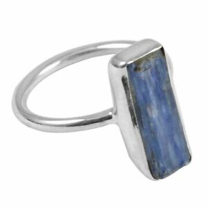 Kyanite-Rough-Solid-925-Sterling-Silver-Ring-Jewelry-Size-6-75-AR-588