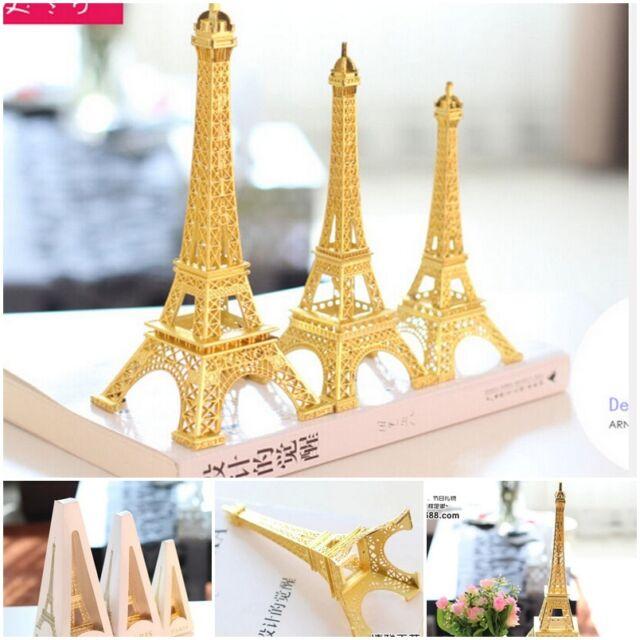 Vintage Rose Gold Tone Nice Paris Eiffel Tower Sculpture Retro Model Home Decors