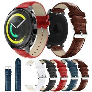 For-Samsung-Gear-S3-Frontier-Classic-Strap-Crocodile-Leather-Watch-Band