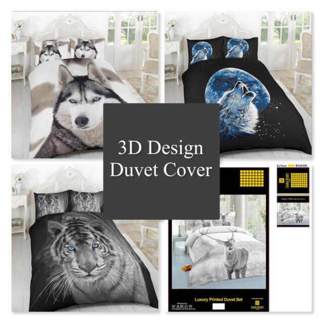 3D Animal Effect Duvet Sets 3D Bedding Set 3D Print Sizes Single Double King