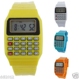 Children-039-s-Watches-Silicone-Sports-Date-Calculator-Digital-Wrist-Watches-Gifts