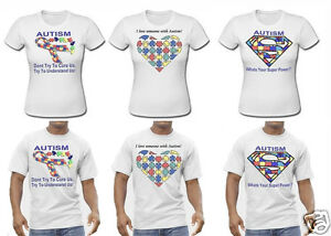 Autism-Awareness-T-Shirts-Male-amp-Female-Any-T-SHIRT-Design-Possible