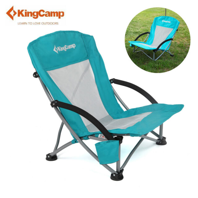 KingCamp Beach Camping Folding Chair Low Sling With Mesh Back Outdoor Chair