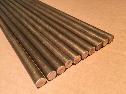 "0.625/"" Dia x 10/"" Long 36000 360 Free Machine Brass Round Rod Bar"