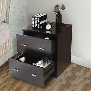 Image Is Loading 2 Drawers Nightstand Bedside Cabinet End Table File