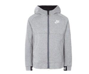 size 40 bdae9 da978 Image is loading Nike-Boys-039-AV15-KFZ-Hoodie-Dark-Heather-