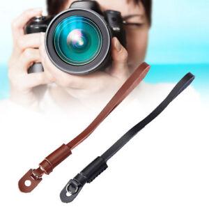 Brown-Camera-Strap-Wrist-Hand-Belt-Strap-Genuine-Leather-Lanyard-For-DSLR-Camera