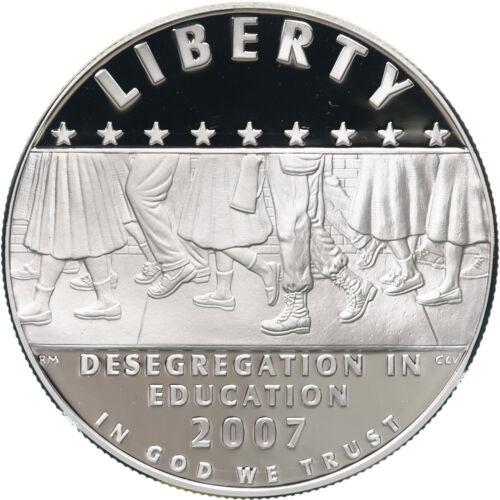 2007 P Little Rock High School Desegregation Proof Commem 90/% Silver Dollar