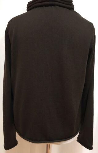 Millen Beskåret 6 Størrelse Cardigan Us uld Ruffly Collar Fringe Brun Og Karen gR4CqZaq
