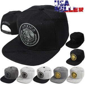 0d73f75b9fac2 Image is loading Baseball-Cap-Mexico-Hat-Snapback-Federal-Logo-Embroidered-