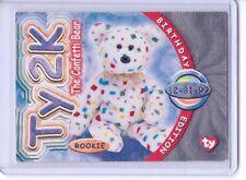 Ty S4 RARE SILVER  *TY2K THE CONFETTI BEAR * Beanie BIRTHDAY Card INSERT #284