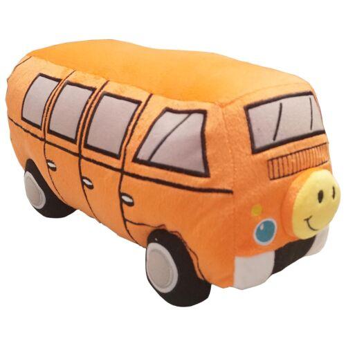 Orange or Purple Cuddly Camper Van Complete Novelty Filled Plush Cushion