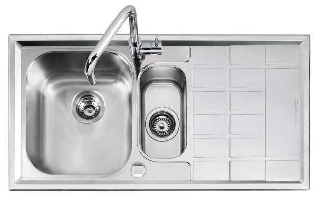 BARAZZA B_LEVEL lavello vasca e mezza + gocciolatoio 1LLV100 D