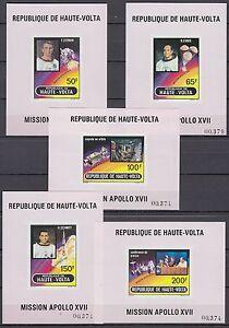 Obervolta-Haute-Volta-1973-mi-420-24-de-Luxe-m-s-espacio-Space-Espace-Apollo