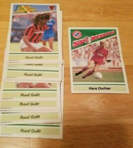 Lot-of-12-Starting-Lineup-SLU-Soccer-Futbol-Cards-Ruud-Gullit-Hans-Dorfner