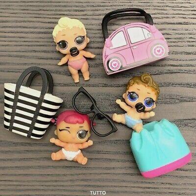 Lot 2PCS LOL Surprise Dolls Series 2 Lil Little Sisters KICKS /& pink baby