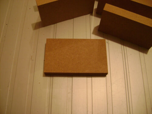 "4 x Freestanding 6/"" x 6/"" MDF 18mm Wooden Rectangles Signs Blanks High Quality"