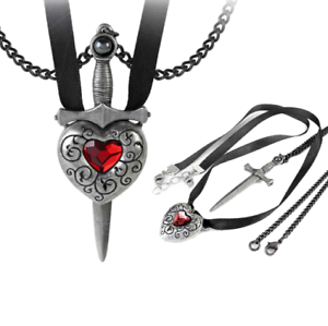 rose gothic pewter silver the gemstone necklace jewelry sterling in at jewerly shop blood heart gem