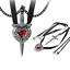 Caja De Regalo Gratis Alquimia Amor es rey Parejas Collar Espada Gothic Corazón Colgante