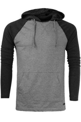 Men/'s Brave Soul /'Riviera/' Lightweight Long Sleeve Hoodie//Hooded Top New S-XL