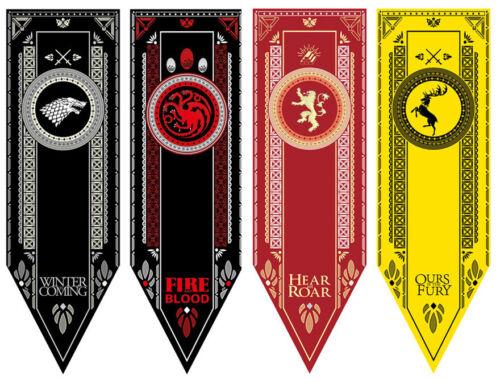 Game Of Thrones Banner Deko Haus Stark Lannister  Baratheon Targaryen