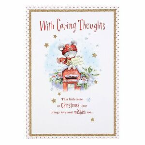 Hallmark Sympathy Christmas Card /'Heartfelt Thoughts/' Medium