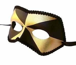 Gold-amp-Black-Mill-Men-039-s-Masquerade-Mask-Eyemask-Venetian-Male-Costume-Mask-Mens