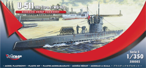IX C Mirage Hobby 350502-1:350 German U-Boot U-511 turmI+WGr42