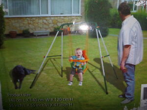 Indoor / Outdoor Baby Toodler Portable Foldable Swing Set