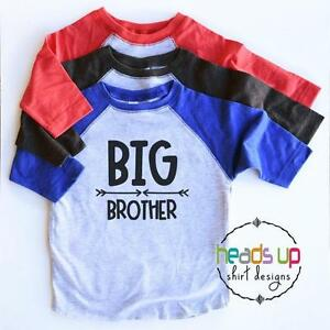 3112b755749 Big Brother Raglan Shirt Toddler Boy New Baby Announcement Sibling ...