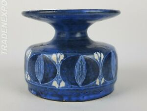 Vintage-60-70-THOMS-STUDIO-ART-POTTERY-Blue-Vase-West-German-Pottery-Fat-Lava