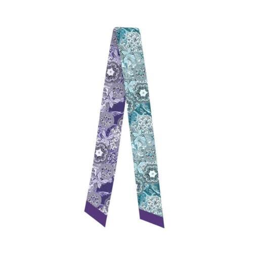 """34/"""" Women Silk Scarf Twill Handbag Handle Wrap Purse Scarves Hair Bow Ribbon"""