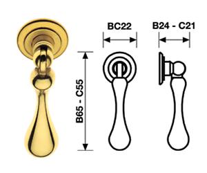maniglia a pendolo pendente per mobili ante armadi cucina - oro
