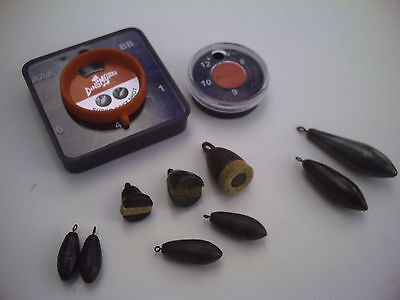 Six Sizes Dinsmore Six Compartment Olivette Dispenser Non Toxic Pole Fishing.