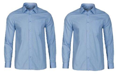 "2 Pack Girls School Shirt Top White Uniform Long Sleeve 26-48/"""