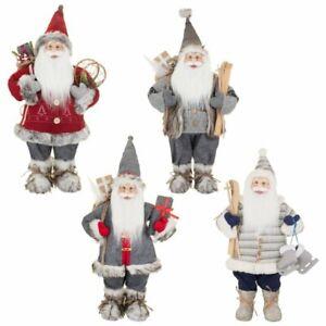 Deluxe-Woodland-Natale-Babbo-Natale-Heritage-60cm-altezza-Decorazioni-di-Natale