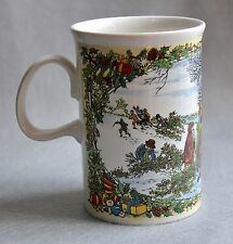 Dunoon Christmas Mug Cheer Series Gathering Mistletoe Fine Porcelain Scotland