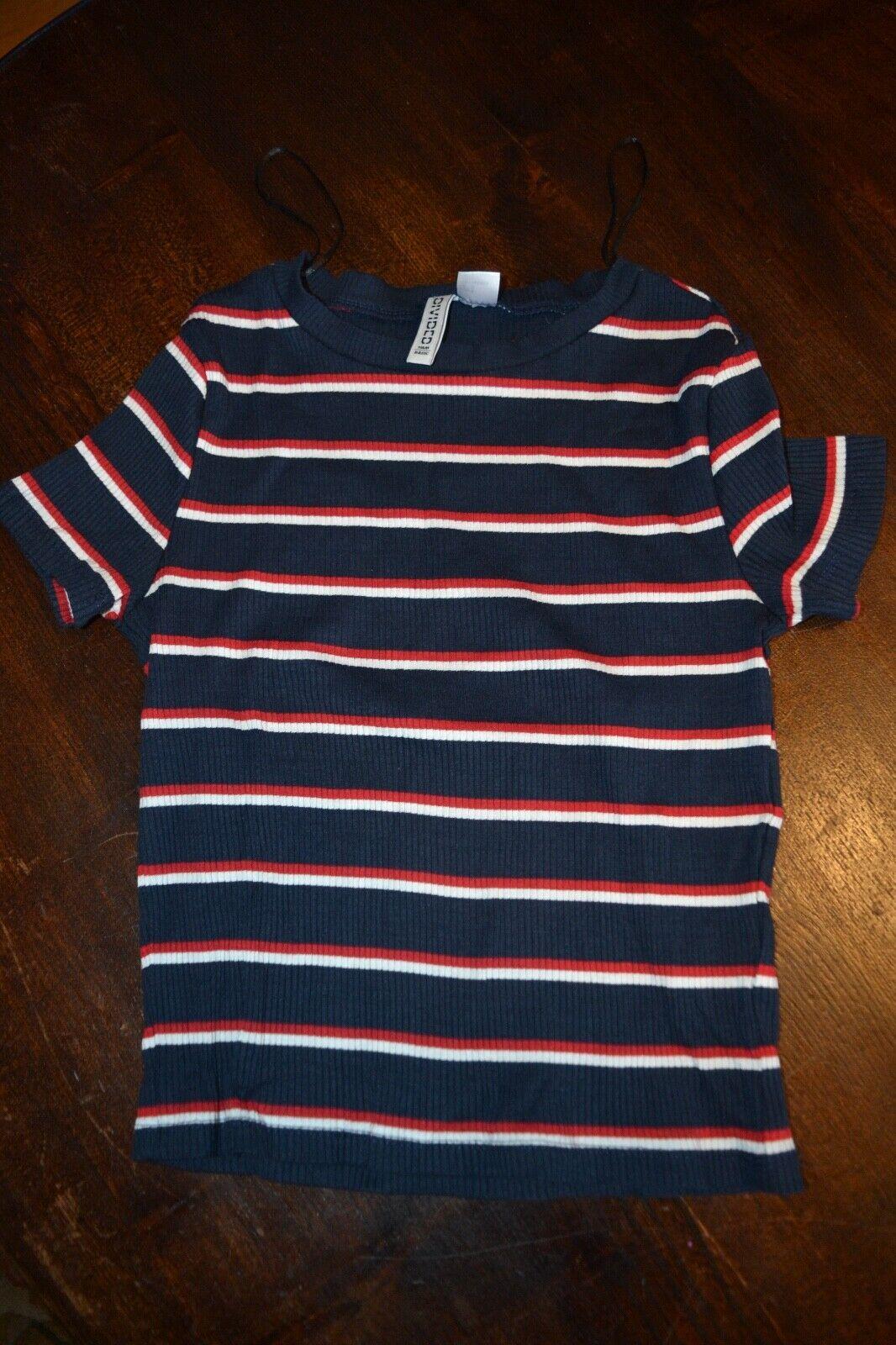 ... à manches courtes S T-shirt h&m (divisé de base) Côtelé 95% coton & Elastine 5% E1
