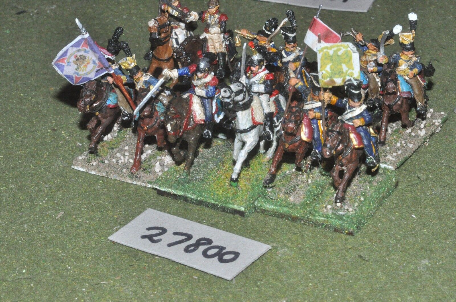 25mm napoleonic   french - mixed 12 figures - cav (27800)