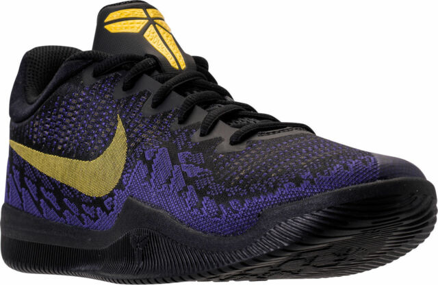 3ddb0290564 Nike Kobe Mamba Rage Men s Basketball Shoes Black Tour Yellow Purple 908972  024