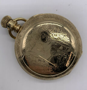 Seth Thomas Private Label 18s 15j Pocket Watch Gr. 71 Gold Filled Stag Case