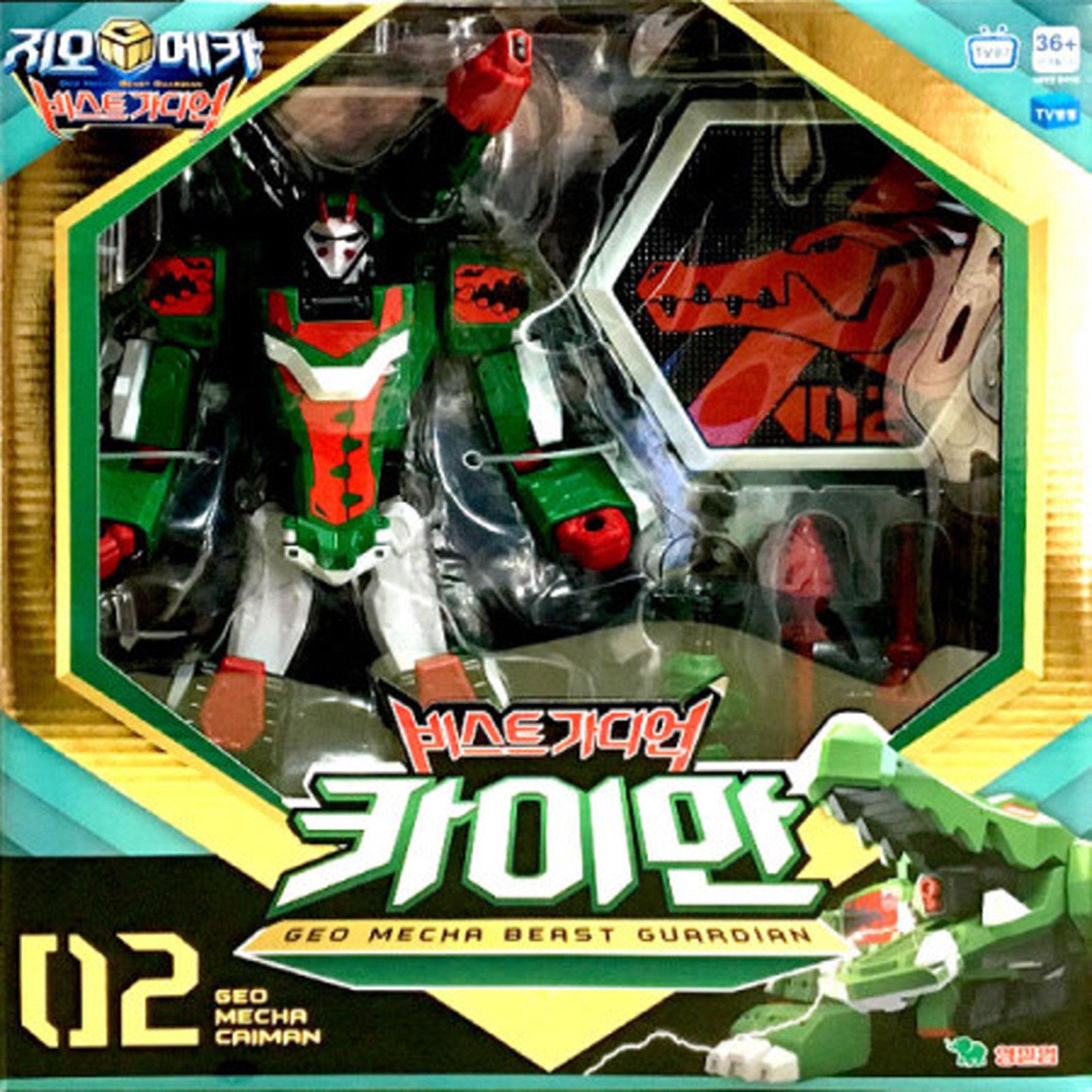 Geo Mecha Beast Guardian CAIMAN Transformer Robot Alligator Toy Action Figure