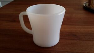 White-Federal-Glass-Co-Vintage-Coffee-Milk-Mug-Cup-D-Handle-Mid-Century